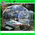 Camping tenda bolha transparente, faceta barraca inflável/faceta barraca inflável para a decoração