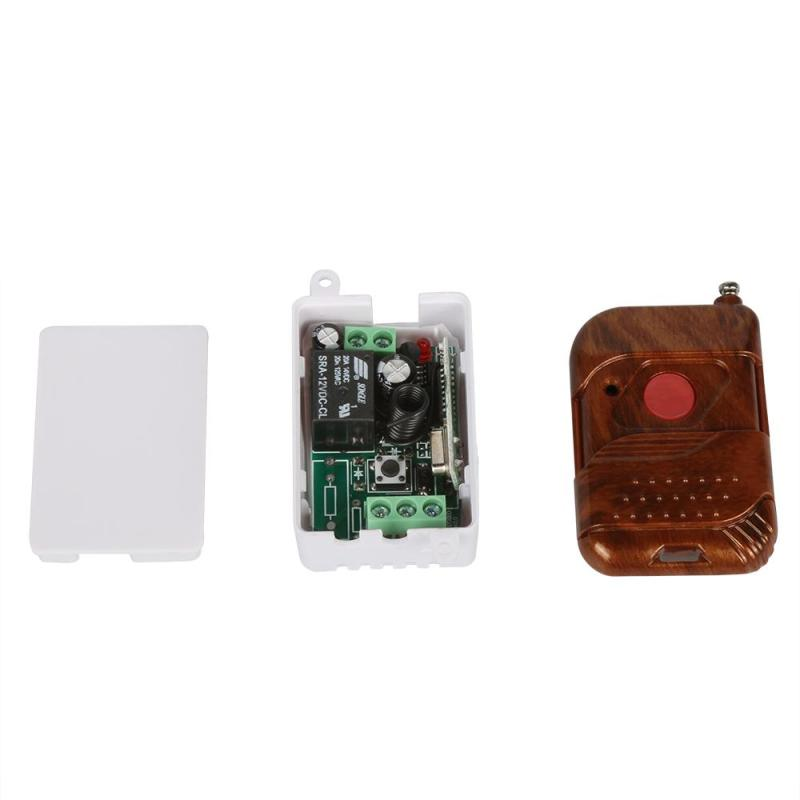 DC 12v 10A relay 1CH 433MHz Universal wireless RF Remote Control Switch Transmitter+433MHz Learning Receiver Code Module dc 12v rf wireless switch remote control switch 10a 1ch receiver mini relay wall transmitter for light motor gate 315 433mhz