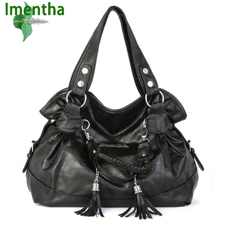 LARGE !! women tote bag shoulder bags female fashion women leather handbags black Tassel Top-Handle Bags purses and handbag flower pattern top handle bags for girls hobos small women leather tote bag women bag female handbags black purses and handbags