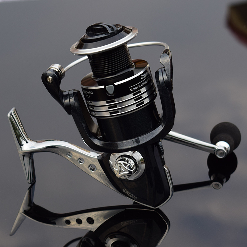Image 4 - Deshion 13+1BB Black Stainless Steel Spinning Fishing Reel 1000 6000 Series Saltwater Casting Fishing Coil Spinning Reels-in Fishing Reels from Sports & Entertainment