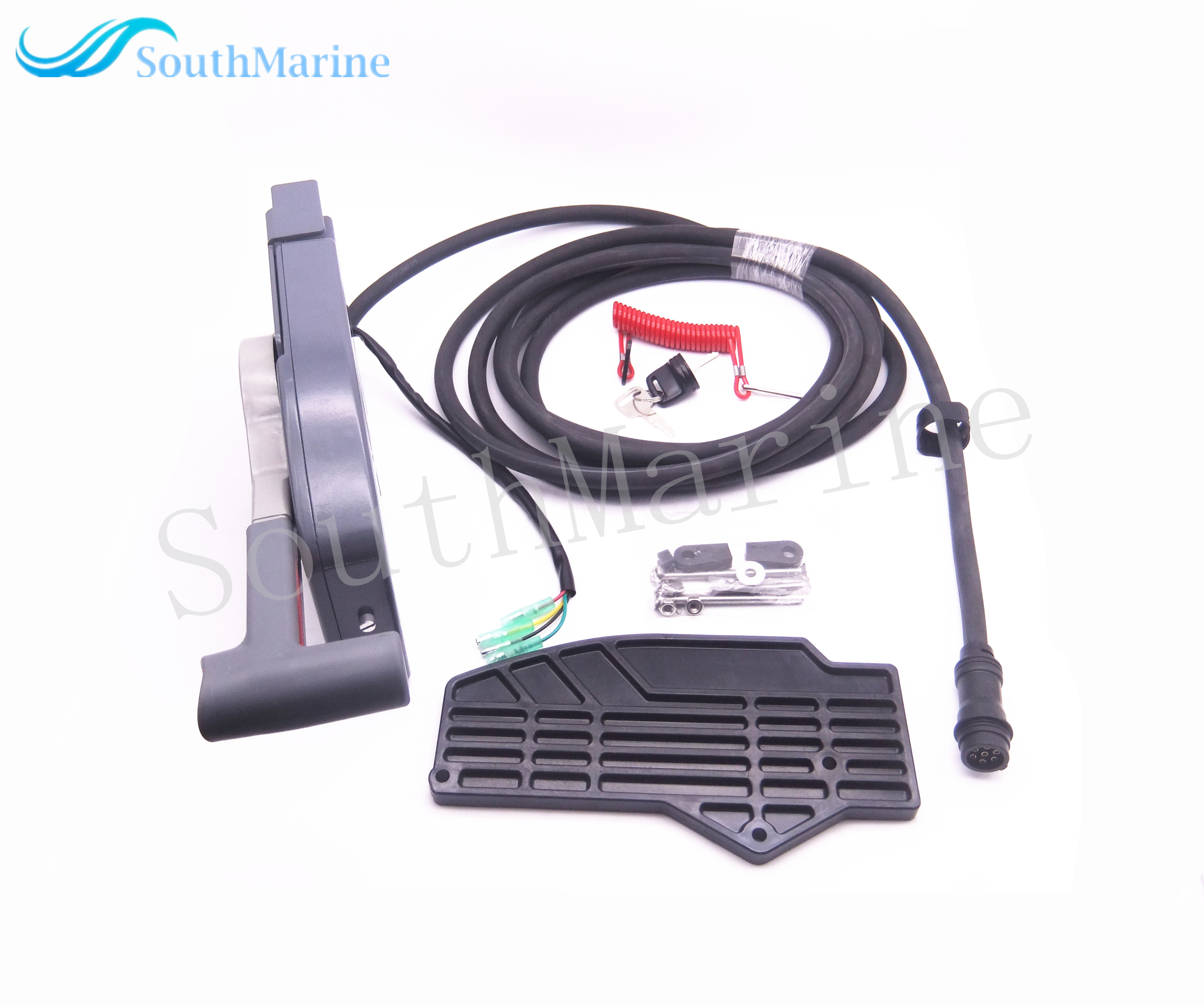 Boat Motor 703-48230-14 703-48203-15 703-48203-17 Remote Control Box Assy for Yamaha Outboard Engine,7 Pins , Left Side Push цена 2017