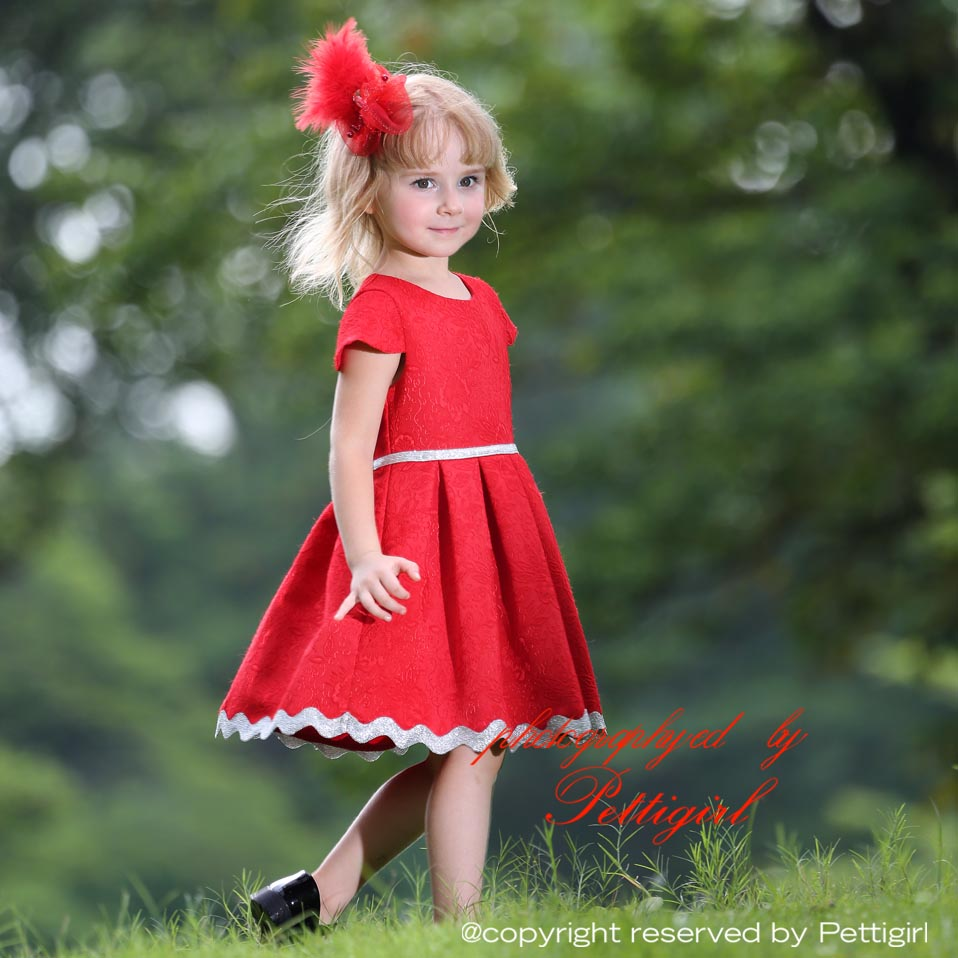559cdcb5a9a2 2017 Pettigirl Kids Designer Red Jacquard Little Girl Pleated Princess Dress  Hot Chinese New Year Dress For Girls-in Dresses from Mother & Kids on ...