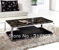 Glass Tea Tables Sidetable Table Livingroom Furniture Coffee Table Stainless Steel Table Facotry Sell 931