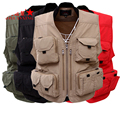 Good Quality fishing vest working vest summer Tactical Hunting fishing Vest with pockets for mens jackets for fishing