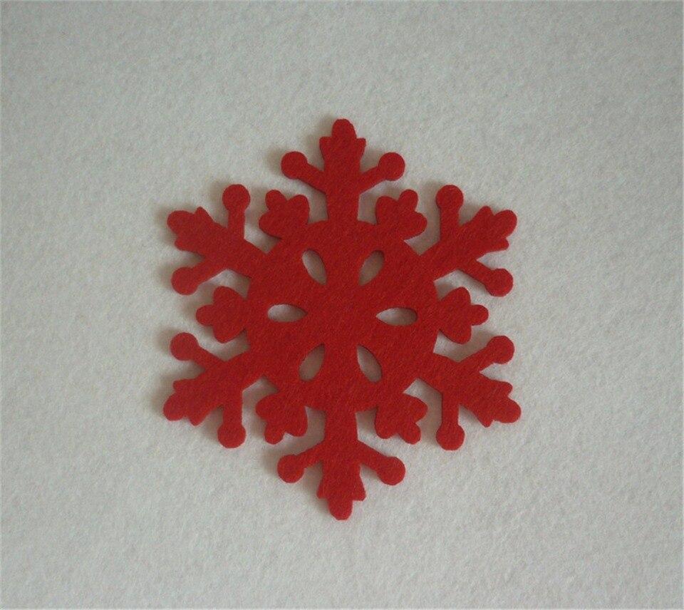 4pcs Red Cup Pad Snowflake Insulation Coasters Mat Xmas Christmas