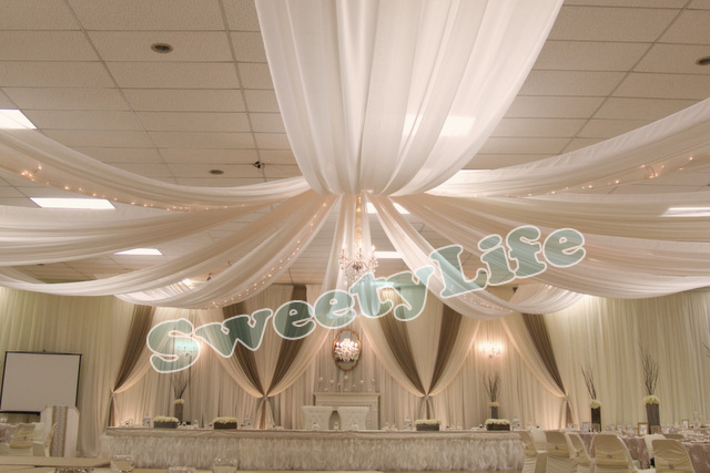 Wedding 10 Pieces Ceiling Drape Canopy Drapery For