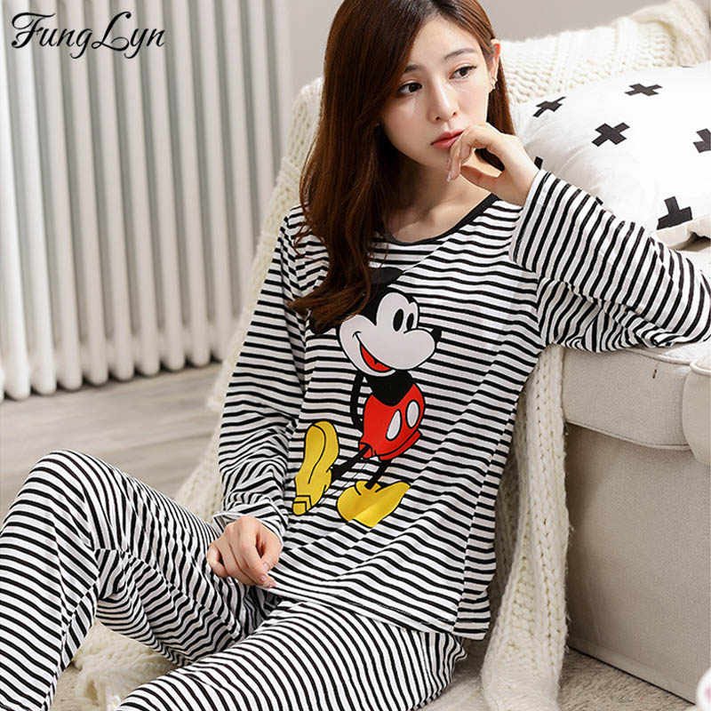 People Tree Stripe Pyjama Long Sleeve Top Pijama para Mujer