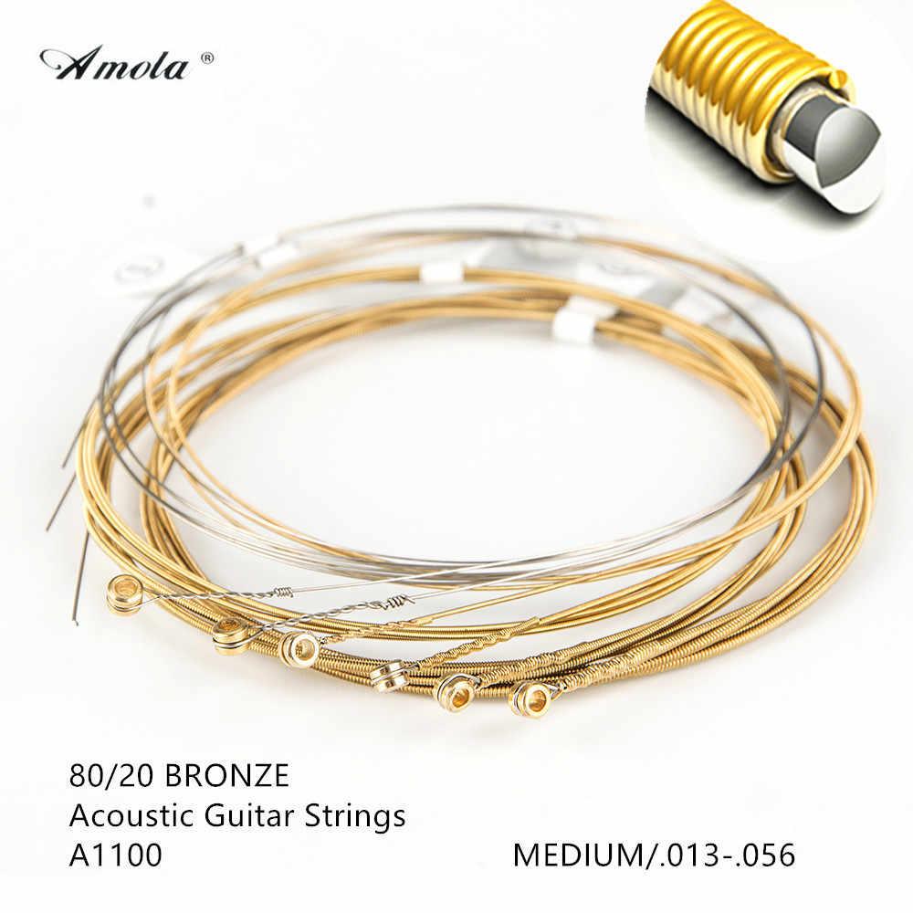 Набор струн для акустической гитары 11002 11052 010 011 012 013 покрытие Фосфорная бронза Nanoweb акустические гитарные струны гитарные части