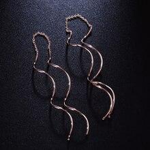 ZHOUYANG Ear Line For Women Simple Spiral Earrings Rose Gold Color Fashion Jewelry Brithday Friendship Gift ZYE243 ZYE319