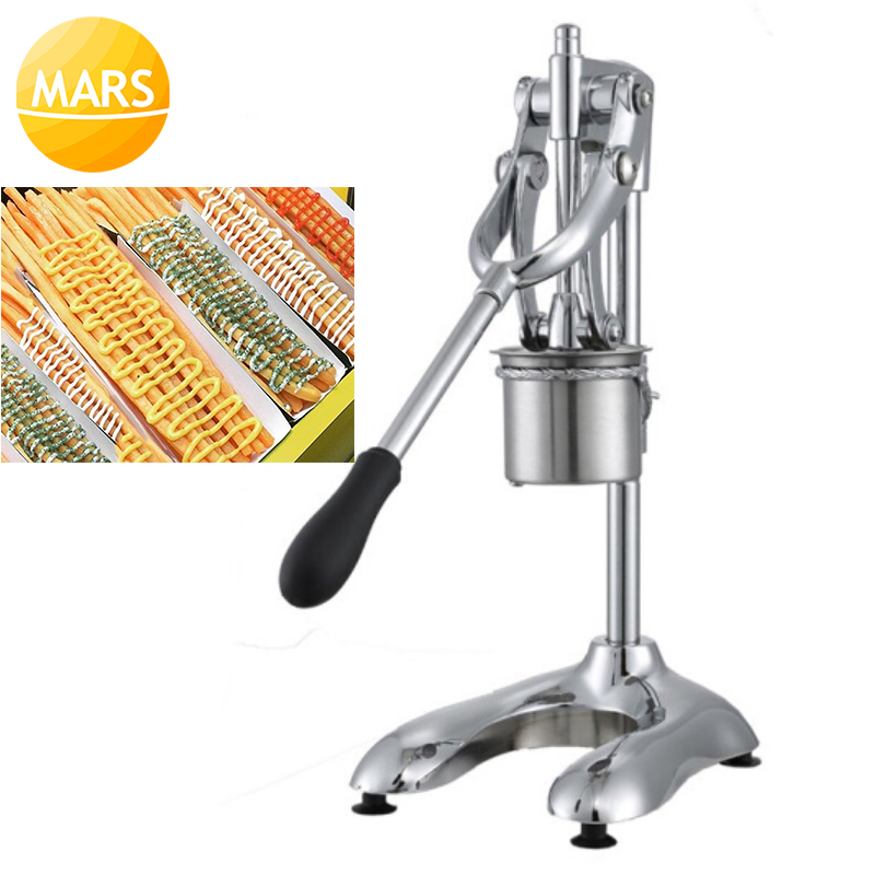 Manual Potato Chips Squeezers Long 30CM American Fried Potato Chip Maker French Fries Cutter Slicers-in Waffle Makers from Home Appliances    1