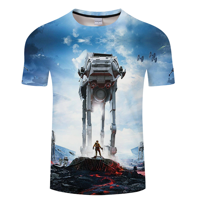 Men Darth Vader Heavy Metal printing Funny 3d T Shirts Short Sleeve Tee Creative fashion star wars t-shirts Hip Hop Tops tshirt