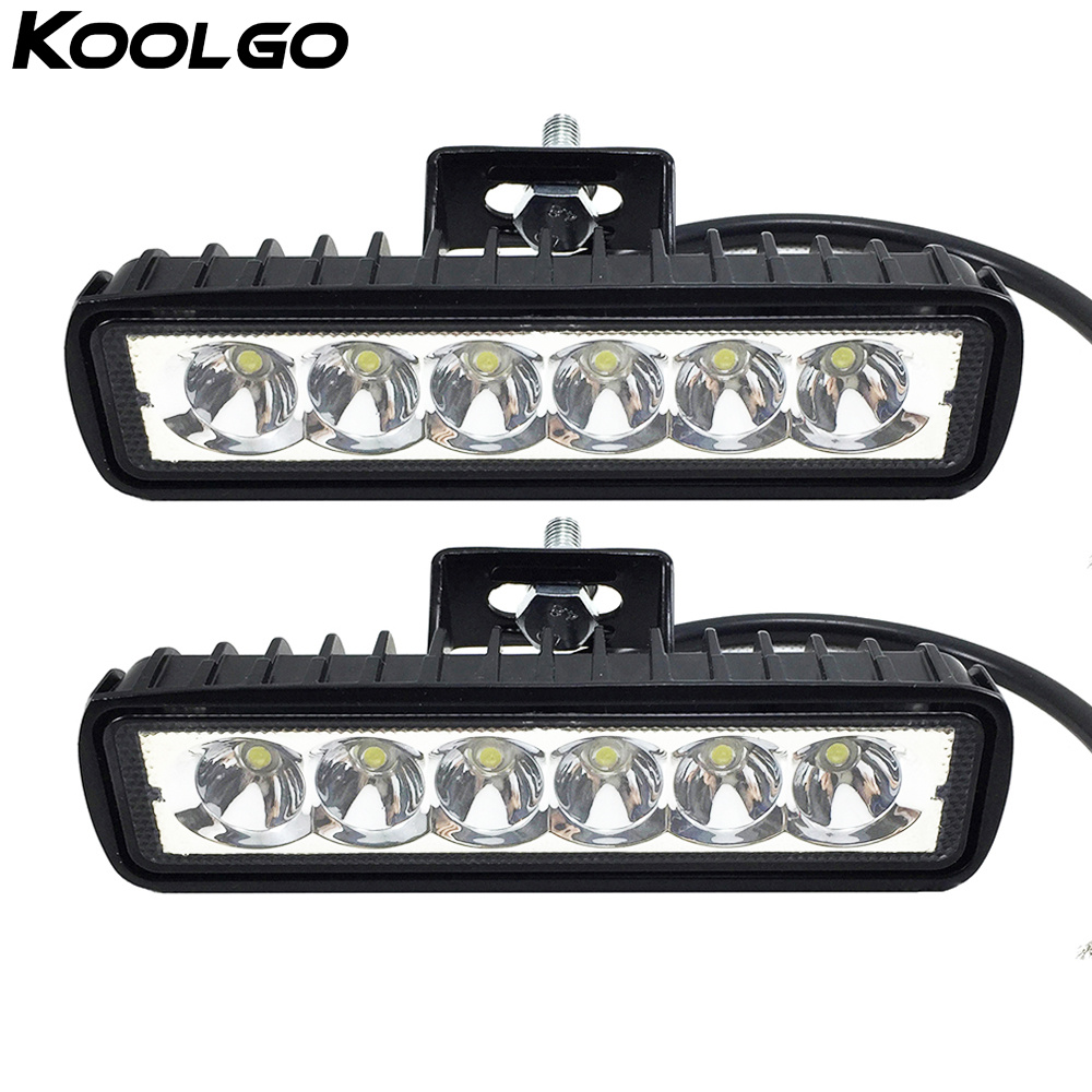 Humorous 2pcs 6 18w Led Light Bar 12v 24v Motorcycle Offroad 4x4 Atv Spot Daytime Running Lights Truck Tractor Warning Work Spotlight Light Bar/work Light Automobiles & Motorcycles