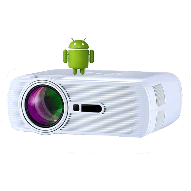 ATCO 1800 Lumens Android Wifi Bluetooth Multifunções LED home cinema digital beamer projetores de bolso LCD TV 3D inteligente proyector