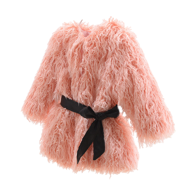 49ba297bd Baby Girl Winter Clothes 2019 Children Faux Fur Coats Girls Faux Wool  Outerwear Kids Winter Faux Fur Jackets O-neck Solid Coats
