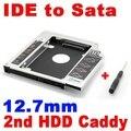 2015 Новый 2-й HDD 12.7 мм IDE для SATA Жесткий Диск Caddy диск SSD Алюминиевый Корпус CD DVD-ROM Оптический Bay Адаптер для ноутбук