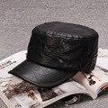 2017 chapéu do inverno dos homens Chapéus Militares Ajustável plana sólida Tampões de Algodão Chapéus Moda para homens quente boinas francês homme