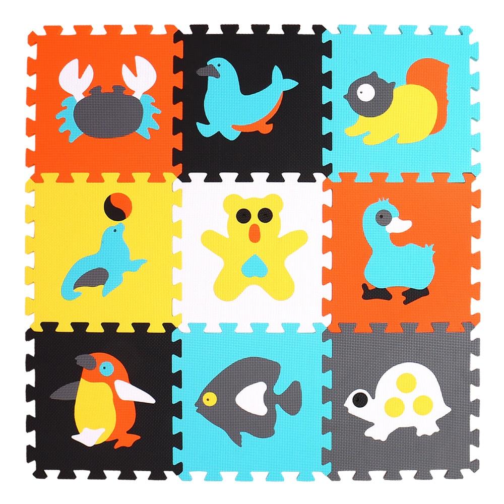 HTB1J2eWglsmBKNjSZFsq6yXSVXaD mei qi cool 9pcs/set baby play EVA foam puzzle mat /Cartoon EVA foam pad / Interlocking Mats for kids playmat
