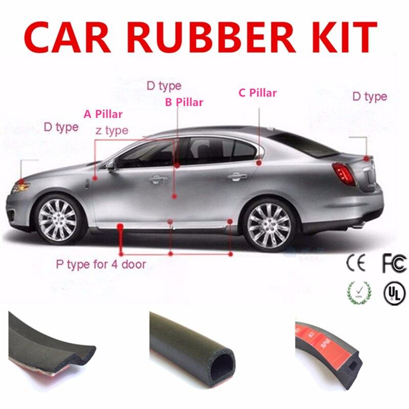 Listen CAR for Prius Styling rubber set D Z P shape seal Anti-Collision For car Engine black Truck Door Button B C pillar hypersonic hp 6121 car door anti collision strip black