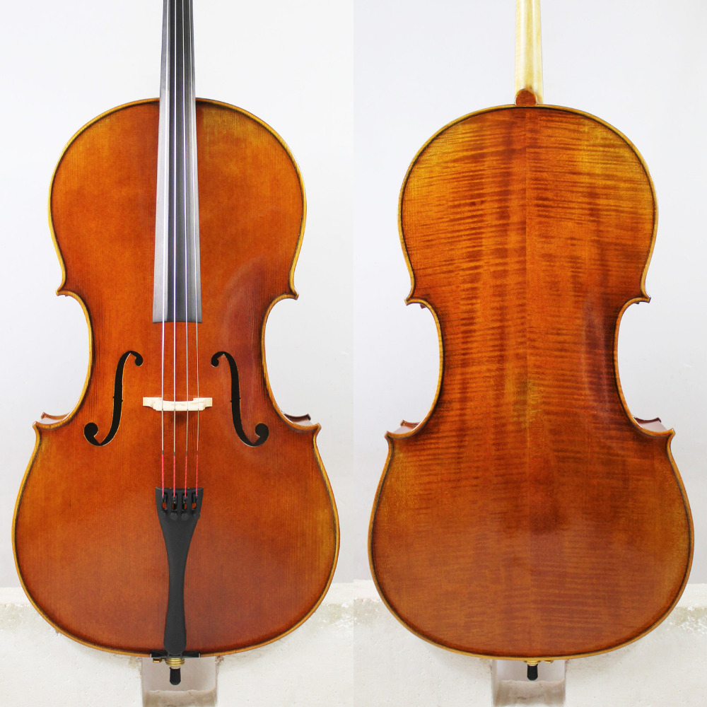 "Salinan Pietro Giacomo Rogeri 1710 4/4 Cello ""All European Wood"" Model Terbaik! Varnish Oil Antique!"