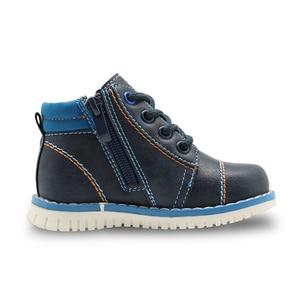 Image 4 - Apakowa İlkbahar sonbahar erkek çocuk çocuk ayakkabı Pu deri ayak bileği yürümeye başlayan çocuk botları çocuk moda Zip Martin çizmeler katı ayakkabı