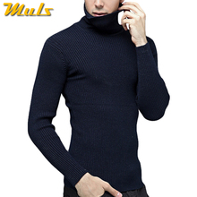 3939458cf0884 Brand Thick Merino Woolen Sweater Men Thermal Underwear Men Winter Turtle  Neck Cashmere Sweaters 4XL Pullover