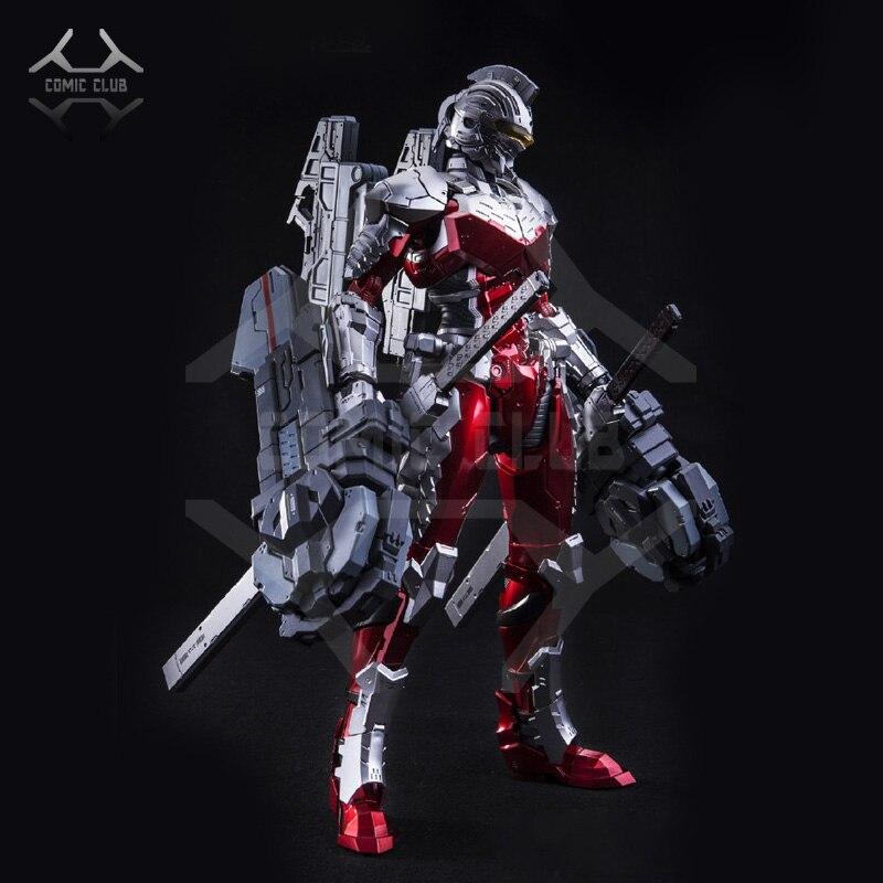 Oyuncaklar ve Hobi Ürünleri'ten Aksiyon ve Oyuncak Figürleri'de KOMIK KULÜBÜ STOKTA 1/6 Ultraman Yedi Ultraman Ver 7.3 E model metal yapı eylem robot oyuncaklar Şekil'da  Grup 1