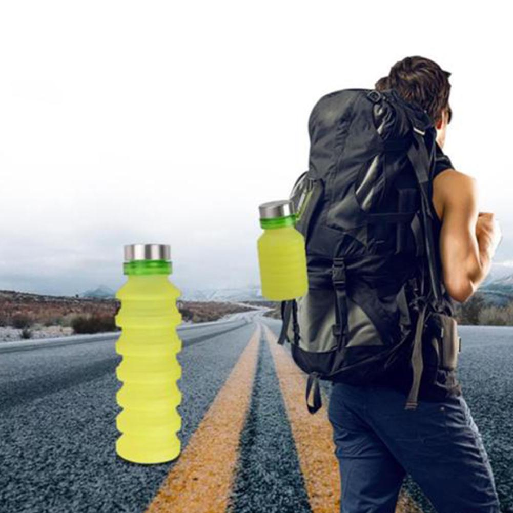HobbyLane 550ML Outdoor Portable Mini Travel Mug Silicone Folding Portable Travel Outdoor Sports Telescopic Cup Hot Sale in Sports Bottles from Sports Entertainment