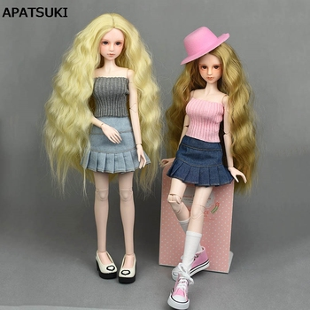 1SET Casual Wear Clothes For 40-50cm XINYI Doll Sweater 1:4 Doll Accessories Doll Kids Toy Blue Jeans A-line Skirt High Quality фото