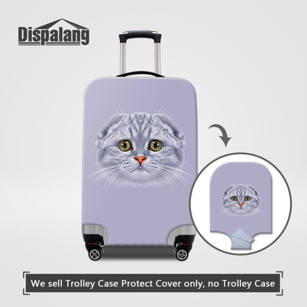 Dispalang Animal Cat Printed Luggage Protective Cover for 18-30 Inch Suitcase Stretch Luggage Case Cover Elastic Suitcase Cover
