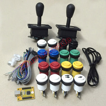hot deal buy 2 player mame arcade diy parts: pc ps3 2 in 1 usb encoder to joysticks 4/8 way & 16 happ push buttons 60 in 1