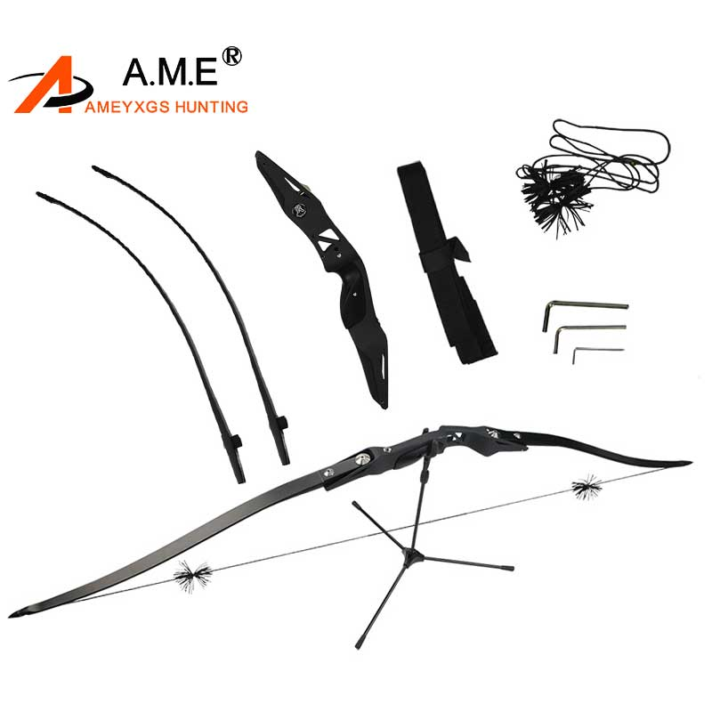 62 inches Heifeng 20-50lbs Takedown Kit Bow Arrow Rest RH D97 String Sport Feather Gift Recurve Bow Tournament Hunting Shooting takedown bow arrow hunting hunting bow shooting set black hard 10 25 40 pounds sport durable