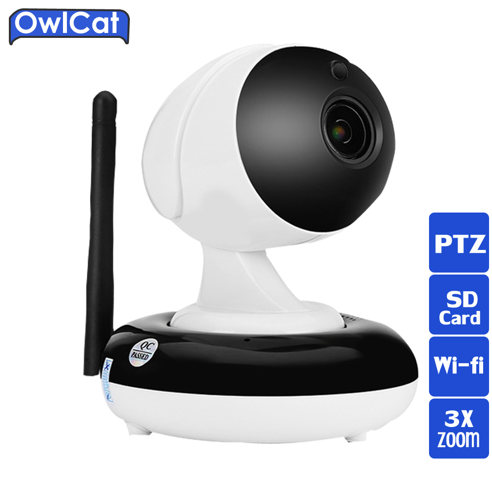 OwlCat HD 960P Indoor Dome PTZ WIFI IP Camera 2.0mp 3X Auto Zoom SD Slot IR Onvif P2P Two-Way/Audio Home Security CCTV Camera full hd ip camera 5mp with sound dome camera ip cam cctv home security cameras with audio indoor cameras onvif p2p