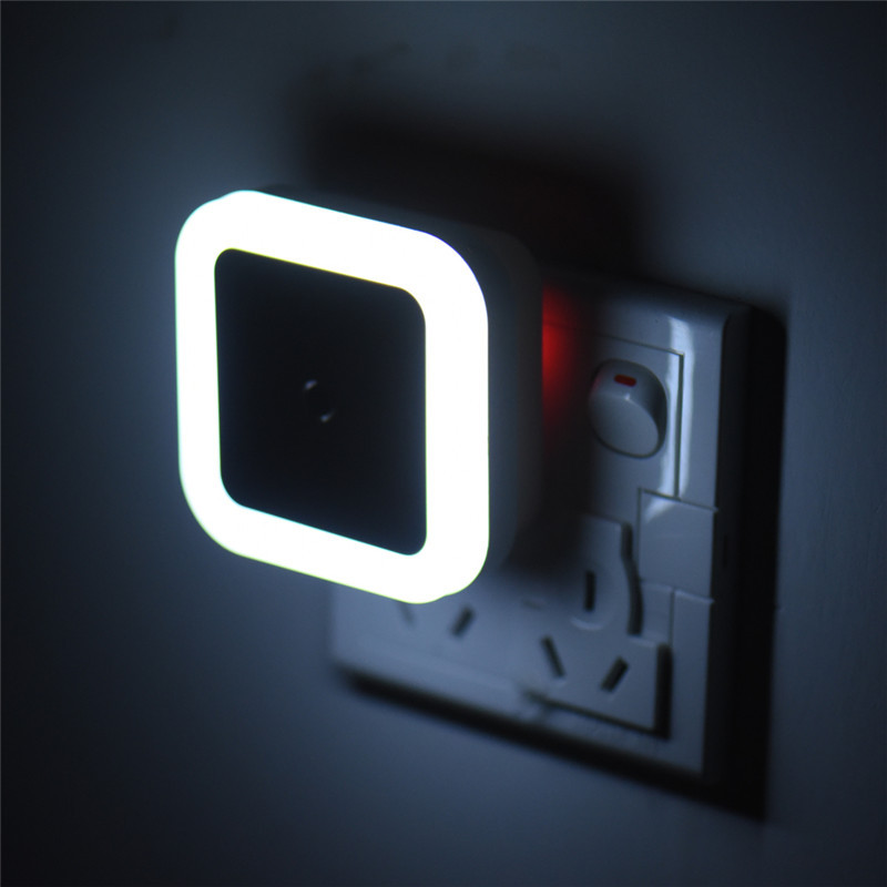 Plug LED Night Light Auto Sensor 220V Wall Socket Lamp Nightlight For Bedroom Children Baby Romantic Color Sleep Light