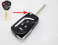 Hoja sin cortar Modificado Plegable Del Tirón Shell Dominante Alejado 4 Botones Para Toyota Camry cáscara dominante Alejada de 3 Botones/4 botones