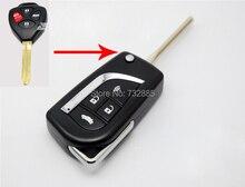 Uncut Klinge Geändert Folding Schlagfernschlüsselober 4 Tasten Für Toyota Camry fernschlüsselshell 3 Tasten/4 tasten