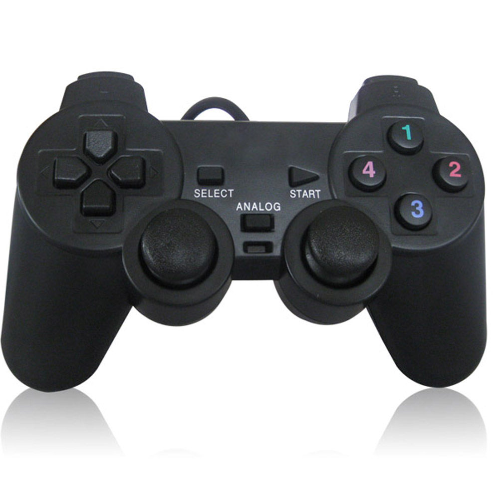 usb pc computer vibration shock wired gamepad game controller