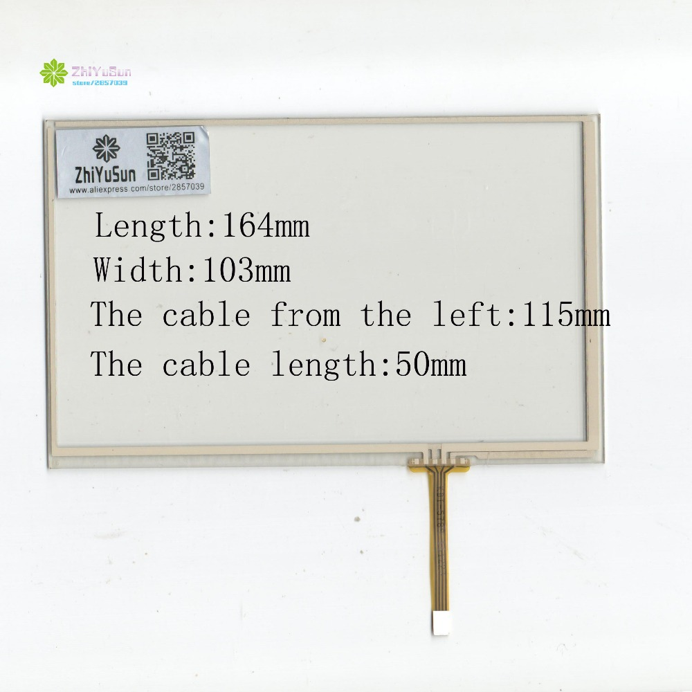ZhiYuSun Compatible HST-TPA7.1G 165mm*104mm NEW 7.1inch 4 Line For CarDVD Touchscreen Panel 165*104 Sensor Glass It's Compatible