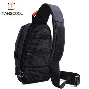 Image 5 - Erkek rahat seyahat çantası erkek göğüs çanta paketi Anti hırsızlık USB su geçirmez omuz Crossbody çantaları genç erkek Mini ipad çantası