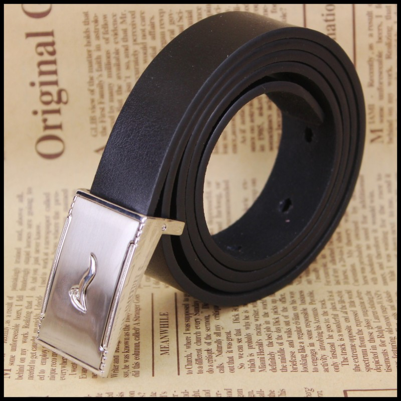 2 5cm Ping buckle Leather Belt in Men 39 s Belts from Apparel Accessories