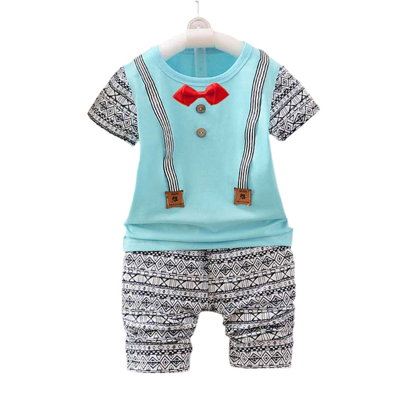 Children Boys Summer Clothing Sets Kids Boy Clothes Suit Short Sleeve Cotton Shirt Tops+Latticed Pants Toddler Boys Clothing jumping meters boys winter clothes children clothing sets animal tops pants 100% cotton 3017 brand kids tracksuit boys outfits