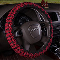 For Audi A4L A6L A8L Q3 Q5 Q7 A5 A3 A7 Handmade Ice Silk Car Steering Wheel Cover Beads Braid Covers lzh