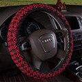 Para Audi A4L A5 A6L A8L Q3 Q5 Q7 A3 A7 Handmade Contas Trança de Seda Gelo Cobertura de Volante de Carro Cobre lzh