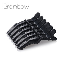 Brainbow 6pcs/Pack Plastic Alligator Hair Clips For Women Hairdressing Coloring Salon Hair Care Styling Accessories Pins Clips(China)