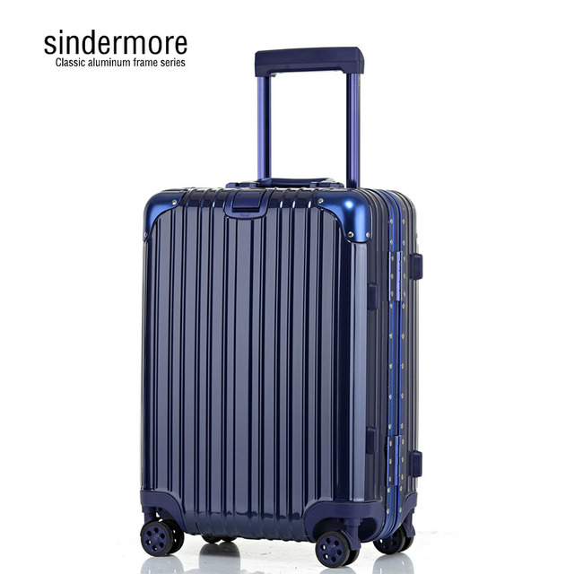 sindermore 20 24 26 29 Classic aluminum frame Silent caster Fashion business Trolley case luggage