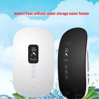 Inteligentny termostat Ultra cienka elektryczna grzałka do wody termiczna wody bez wiszący domu prysznic szybkie nagrzewanie narzędzie do kąpieli 220 V 1 pc w Elektryczne podgrzewacze do wody od AGD na