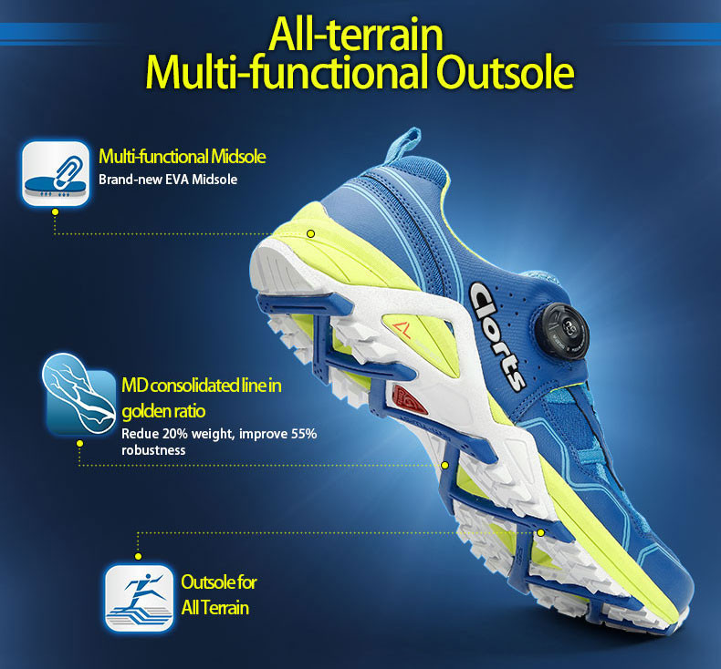 16 Clorts Men BOA Lacing System Running Shoes Free Run Lightweight Sport Shoes Breathable Outdoor Running Sneakers 3F013 10