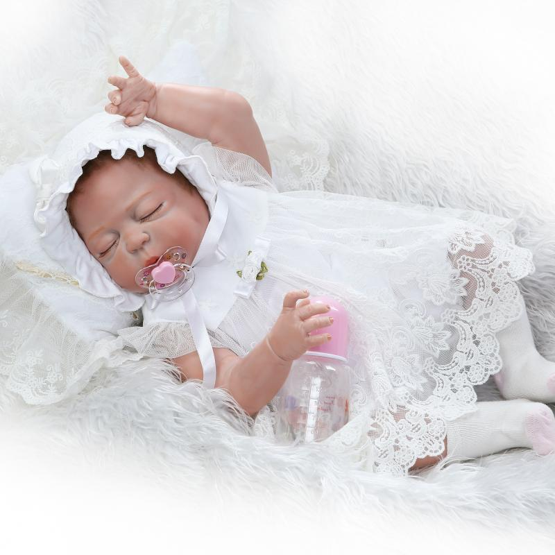 Hot 23 Lifelike Reborn Bonecas Handmade Silicone Reborn Baby Doll Full Body Vinyl Baby closed eyes kids birthday gifts toyHot 23 Lifelike Reborn Bonecas Handmade Silicone Reborn Baby Doll Full Body Vinyl Baby closed eyes kids birthday gifts toy