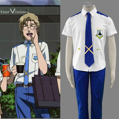 Mikhail Blanc Cosplay Men Costumer Dress Cool The Macross Saga Outfit New Product D81