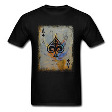 45403a6fb01907 Simple Style Tops Poker T Shirts Men T-Shirt Black Ace Tshirt Printed  Summer Clothing