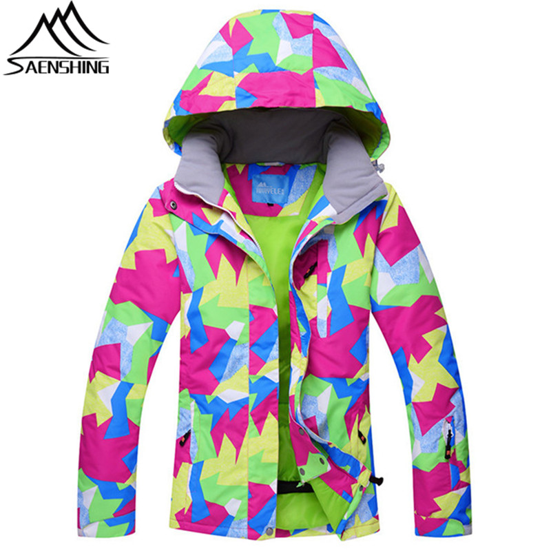SAENSHING Ski Jackets Girl Snow Jacket Women Waterproof Super Warm Winter Jacket Snowboard Outdoor Skiing And Snowboarding Coats 2017 hot sale gsou snow high quality womens skiing coats 10k waterproof snowboard clothes winter snow jackets outdoor costume